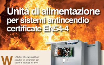 Unità di alimentazione per sistemi antincendio certificate EN54-4