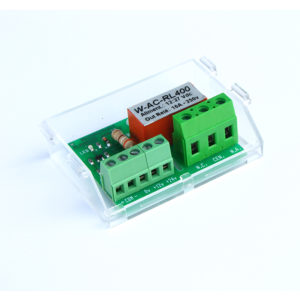 W-AC-RL400 scheda relè a bassa tensione per carichi ad alta corrente a 250V
